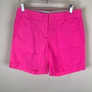 J. Crew Sz 4 Pink Chino Broken In Shorts